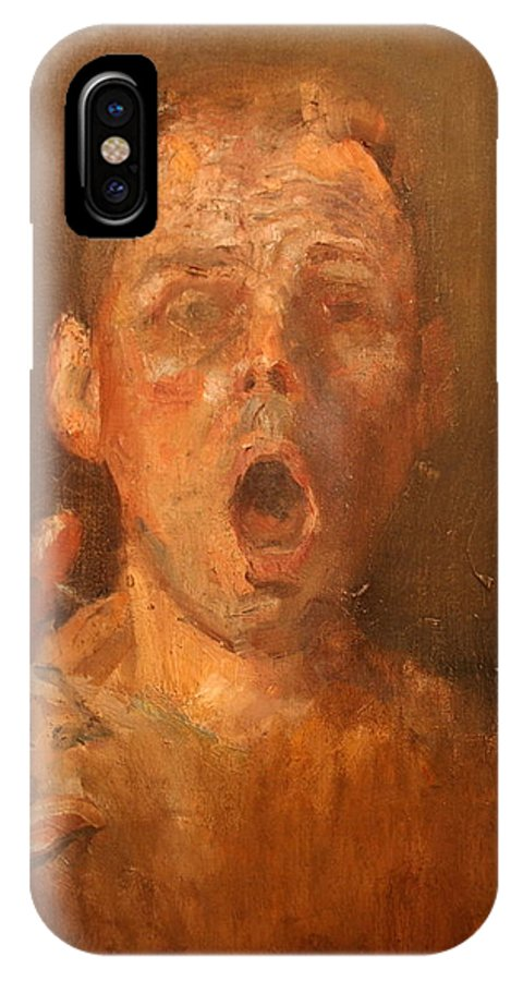 Portrait IPhone X Case featuring the painting End Of The 21st Century by Seth Camm
