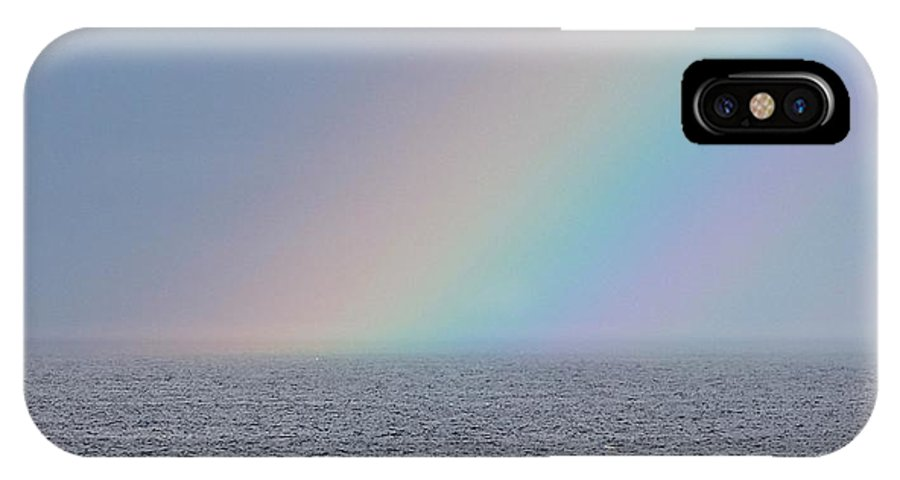 Rainbow IPhone X Case featuring the photograph End Of The Rainbow by Michael Saunders