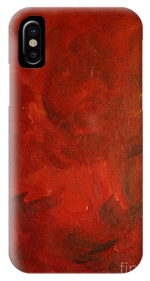 Energy IPhone X / XS Case featuring the painting Energy by Andreas Berheide