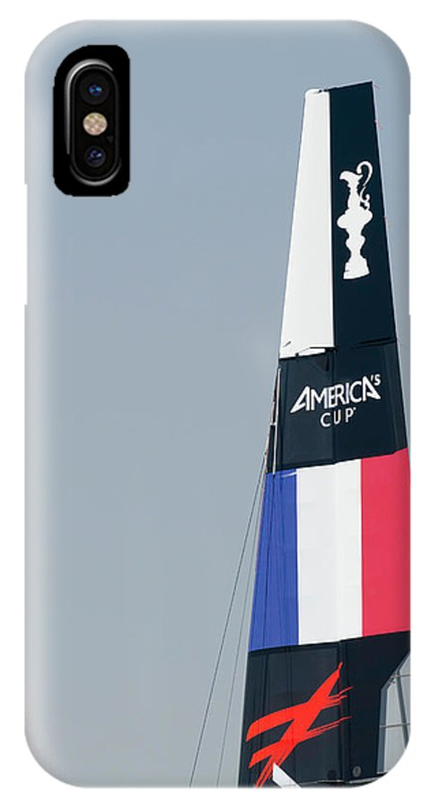 Ac45 IPhone X / XS Case featuring the photograph Energy Team Sail by Lorenzo Tonello