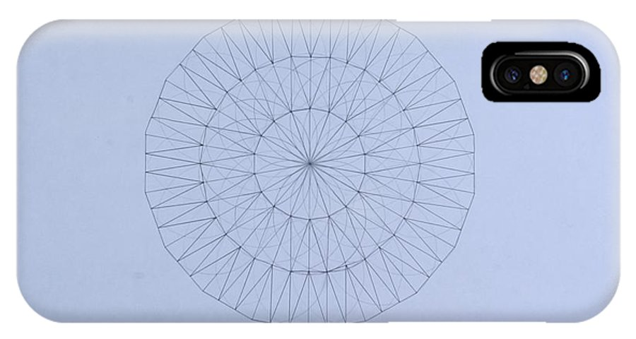 Jason Padgett IPhone X Case featuring the drawing Energy Wave 20 Degree Frequency by Jason Padgett
