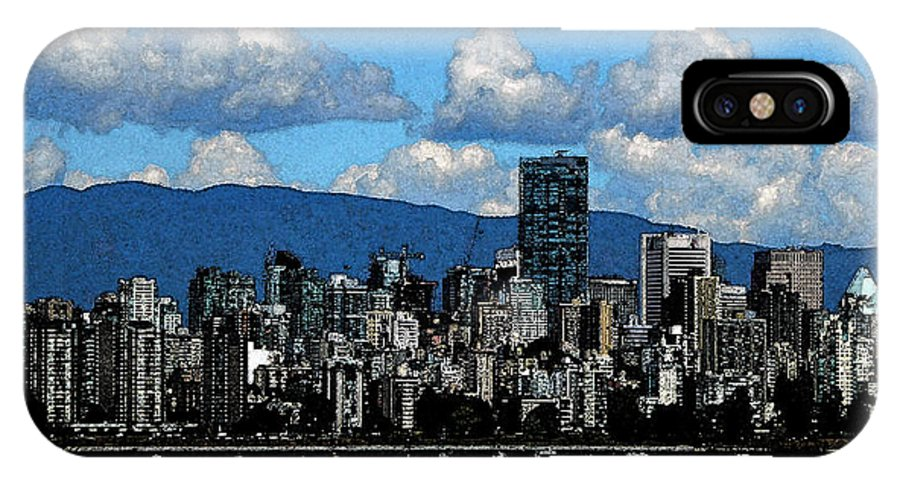 Home Decor IPhone X Case featuring the photograph English Bay 4 by Laurie Tsemak