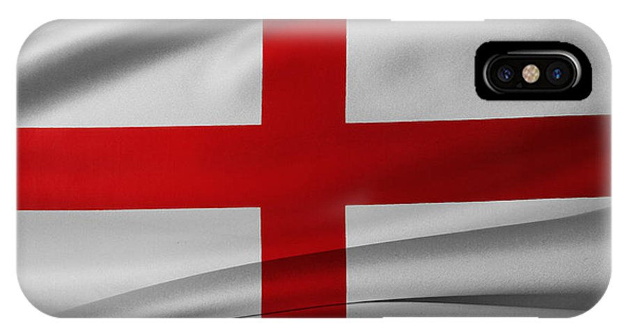 Background IPhone X / XS Case featuring the photograph English Flag by Les Cunliffe