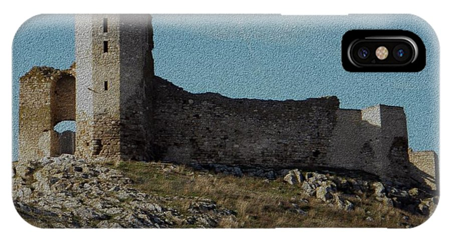 Enisala IPhone X Case featuring the photograph Enisala Fortress Canvas by Manuela Constantin
