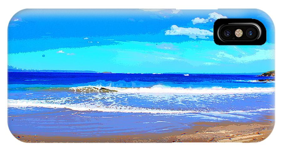 Sea IPhone X Case featuring the photograph Enjoy The Blue Sea by SilkAndPaper Art