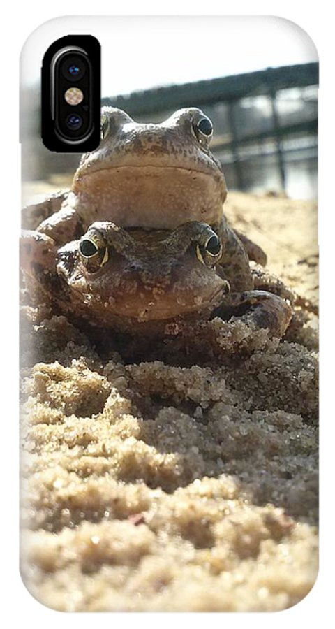 Frogs IPhone X Case featuring the photograph Enjoy The Life by Nathalie Hope