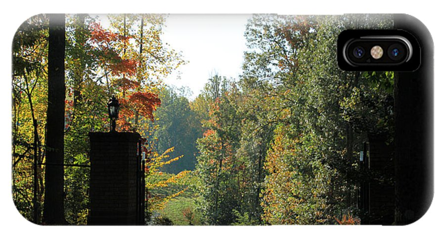 Trees IPhone X Case featuring the photograph Entering Wine Country by Rhonda Burger