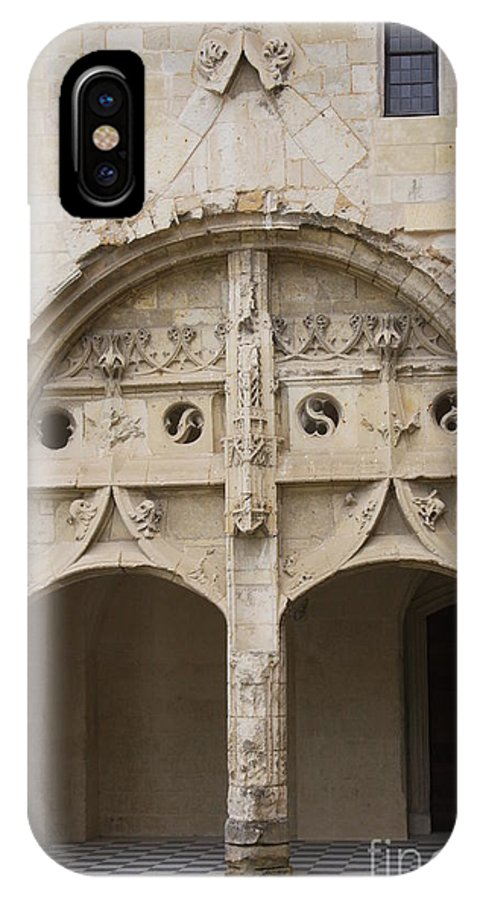 Cloister IPhone X Case featuring the photograph Entrance Fontevraud Abbey- France by Christiane Schulze Art And Photography