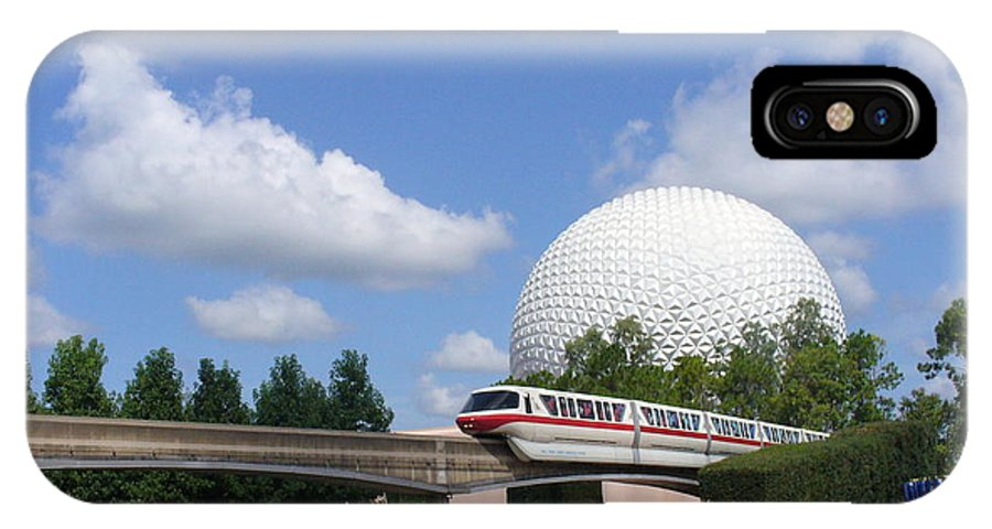 Epcot Centre Theme Park IPhone X Case featuring the photograph Epcot And The Monorail Ride by Lingfai Leung