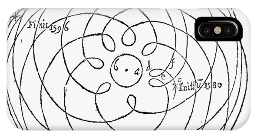 Mars IPhone X Case featuring the photograph Epicycle Calculations by Middle Temple Library