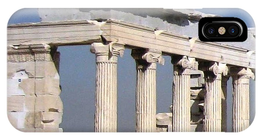 Athens IPhone X Case featuring the photograph Erechtheion 2 by Teresa Ruiz