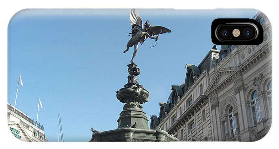 London IPhone X Case featuring the photograph Eros At Piccadilly by Deborah Smolinske