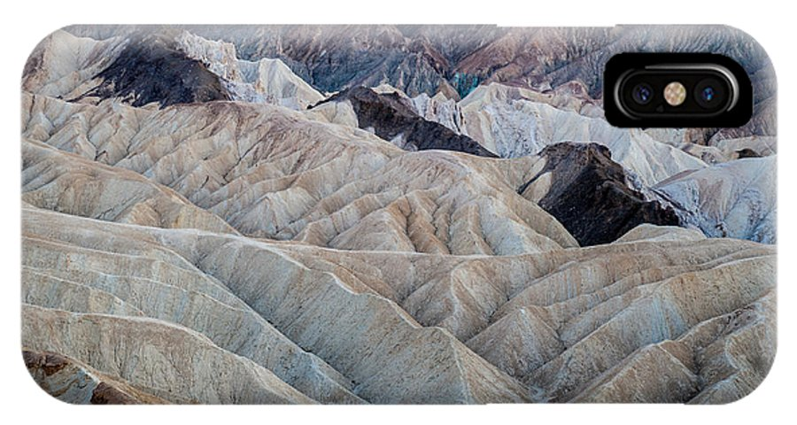 Death Valley IPhone X Case featuring the photograph Erosional Landscape - Zabriskie Point by George Buxbaum