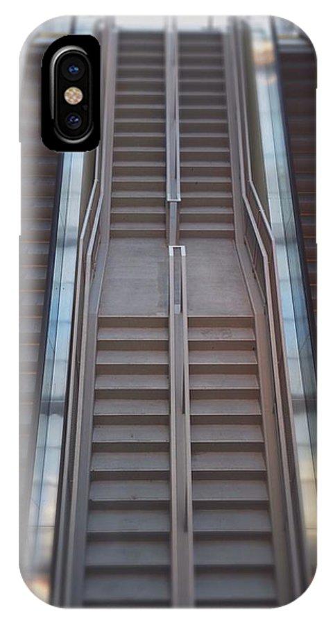 Escalator IPhone X Case featuring the photograph Escalator by Nate Bogert