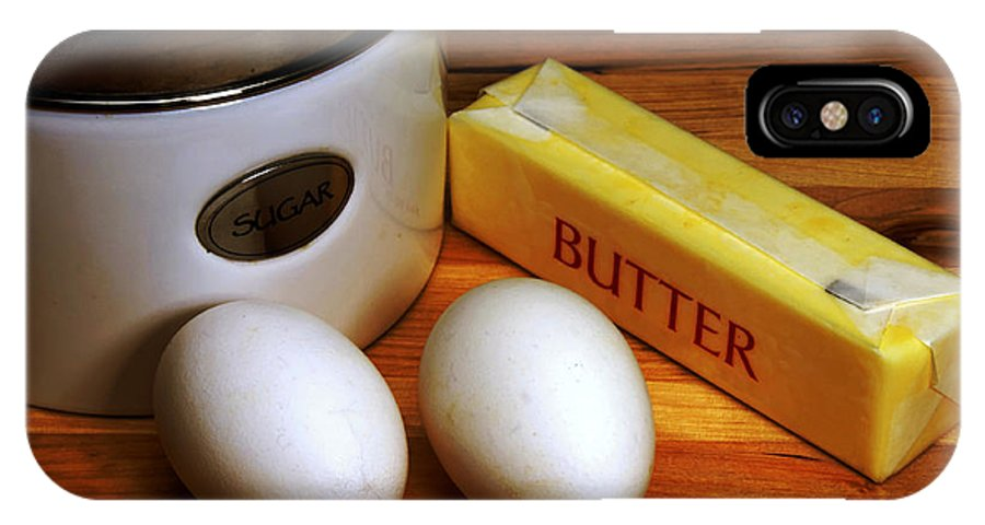 Butter IPhone X Case featuring the photograph Essential Baking Ingredients by Danny Hooks