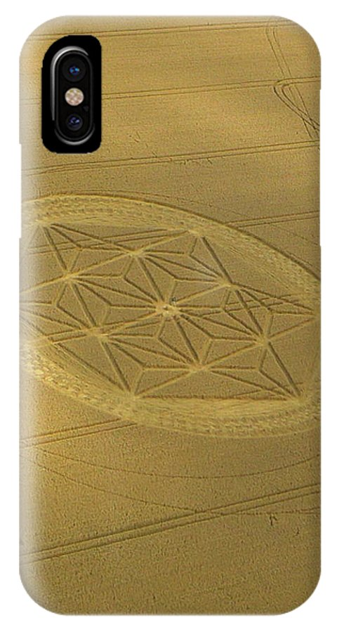 Etchilhampton IPhone X Case featuring the photograph Etchilhampton Crop Formation 2011 by Denise Mazzocco