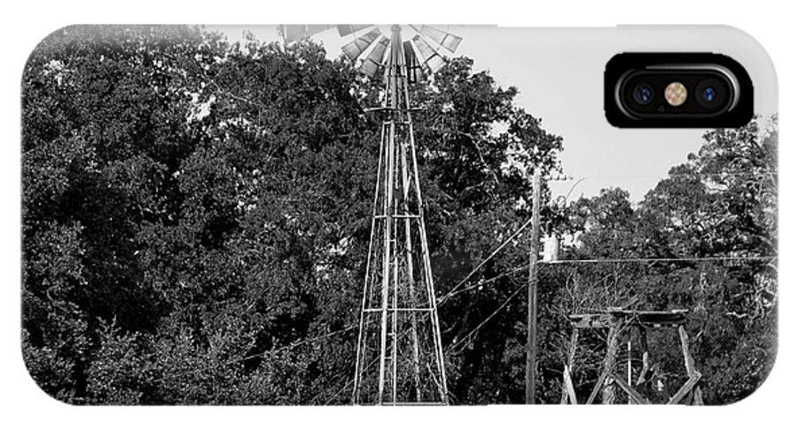 Windmill IPhone X Case featuring the photograph Eternally At Work by Patrick Meek