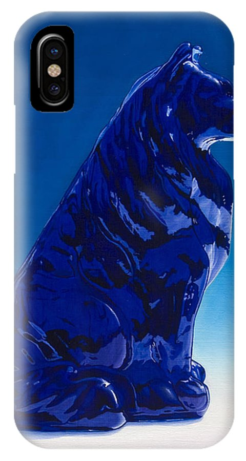 Blue Dog IPhone Case featuring the painting Eternally Blue by Gary Hernandez