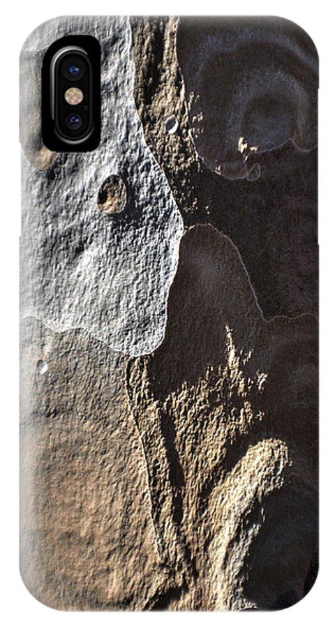 Eucalyptus IPhone X Case featuring the photograph Eucalyptus Bark Abstract by Richard Stephen