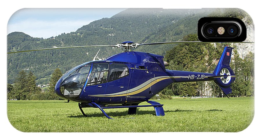 No People IPhone X Case featuring the photograph Eurocopter Ec130 Light Utility by Luca Nicolotti