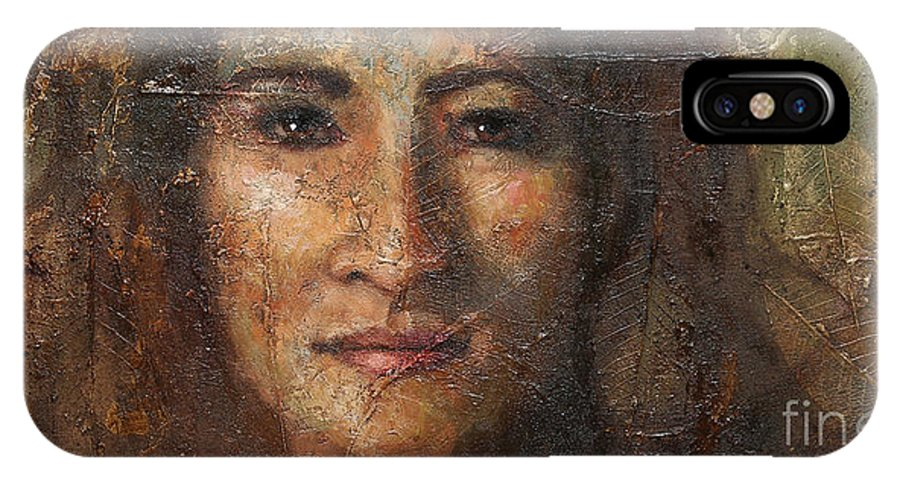 Eve IPhone X Case featuring the painting Eve by Sandra Quintus