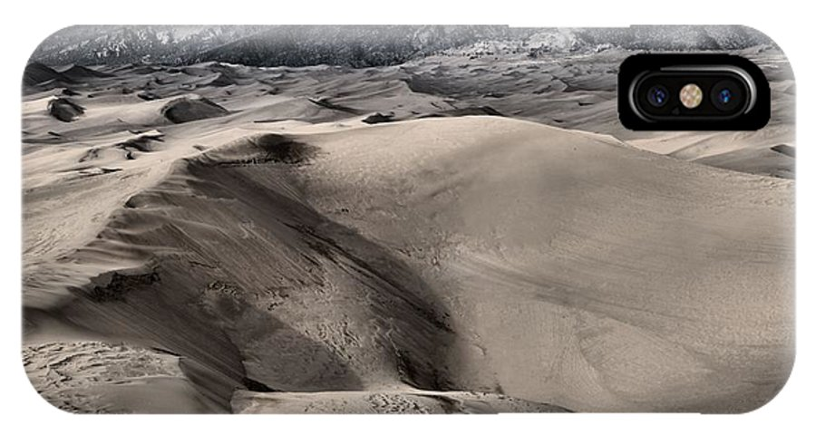 Great Sand Dunes National Park IPhone X Case featuring the photograph Evening At The Dunes by Adam Jewell