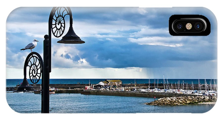 Evening IPhone X Case featuring the photograph Evening Calm At Lyme Regis by Susie Peek