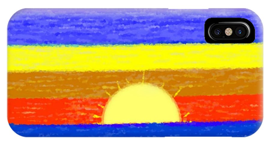 Evening.sky.stars.colors.violet.blue.orange.yellow.red.sea.sunset.sun.sunrays.reflrction. Ater. IPhone Case featuring the digital art Evening Colors by Dr Loifer Vladimir