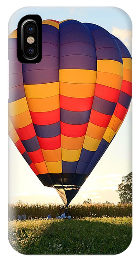 Balloon IPhone X Case featuring the photograph Evening Glow by George Jones