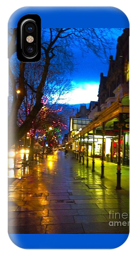 Shopping IPhone X Case featuring the photograph Evening Light On Lord Street by Joan-Violet Stretch