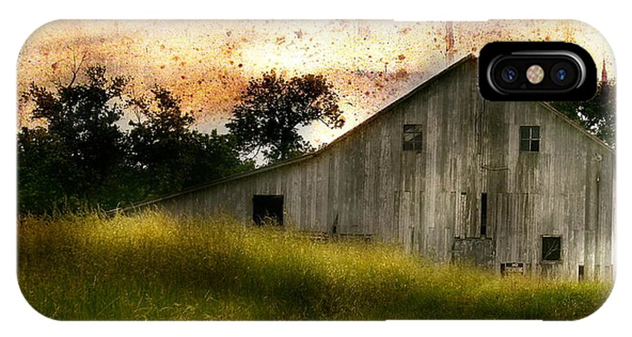 Landscape IPhone X Case featuring the photograph Evening Light Over Taylor Farm by Virginia Folkman