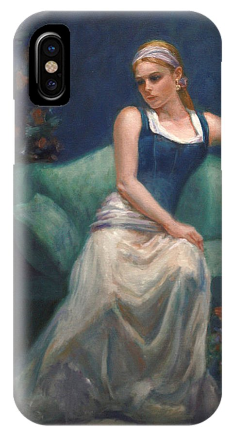 Beautiful Young Girl IPhone X Case featuring the painting Evening Repose by Sarah Parks