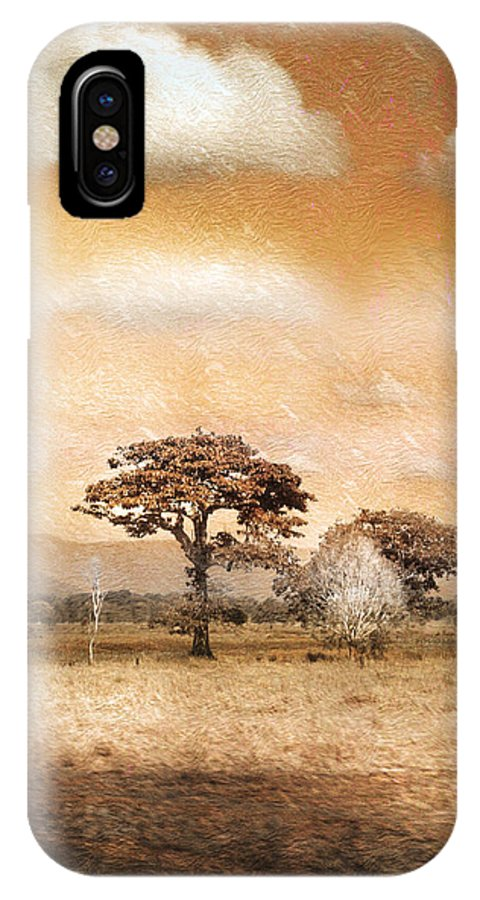 Landscapes IPhone X Case featuring the photograph Evening Showers by Holly Kempe
