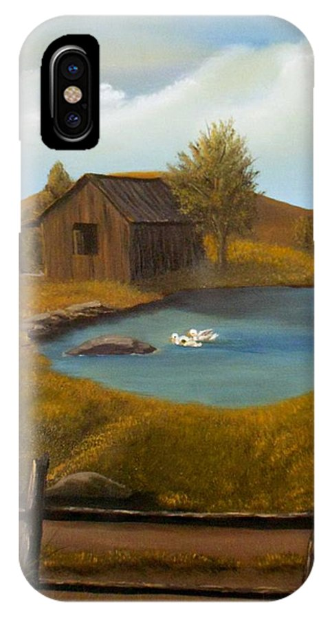 Evening IPhone X Case featuring the painting Evening Solitude by Sheri Keith