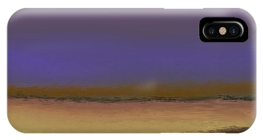 Landscape IPhone X Case featuring the digital art Evening Song Of Dead Sea by Dr Loifer Vladimir