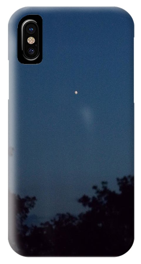 Star IPhone X Case featuring the photograph evening star of August by Virginia Kay White