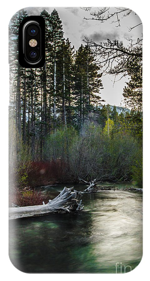 Evening Stroll IPhone X Case featuring the photograph Evening Stroll by Mitch Shindelbower