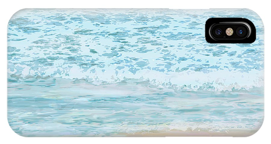 Ocean IPhone X Case featuring the digital art Evening Surf by Ian MacDonald