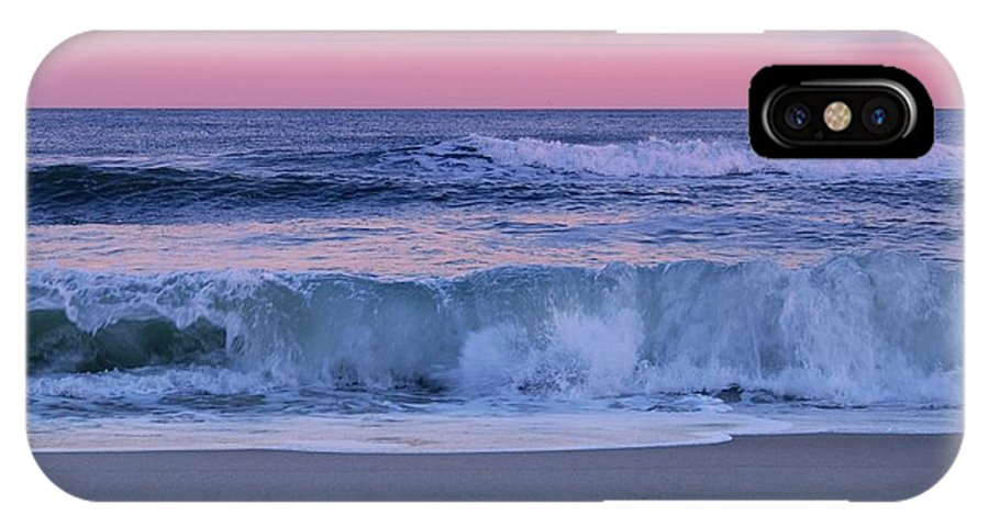 Jersey Shore IPhone X Case featuring the photograph Evening Waves - Jersey Shore by Angie Tirado