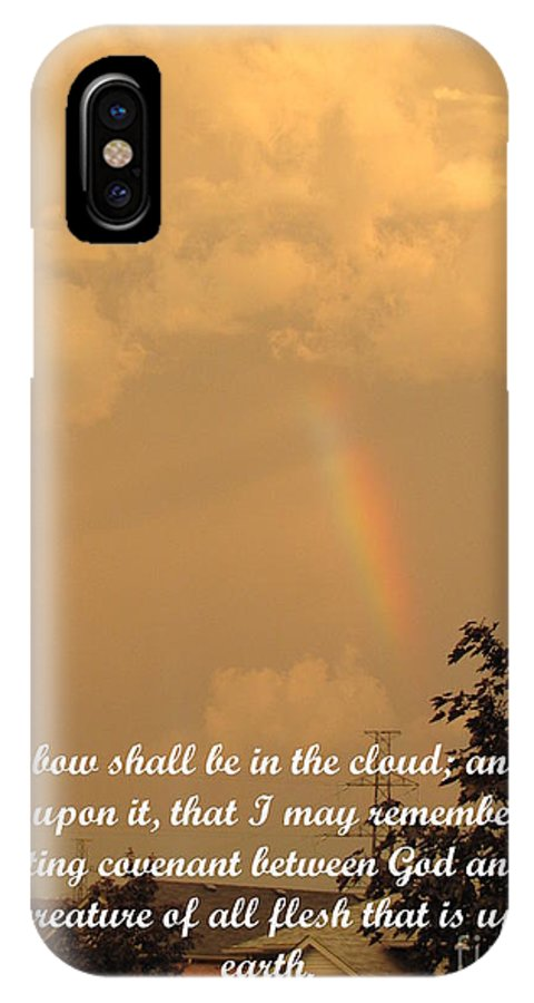 Bow IPhone X Case featuring the photograph Everlasting Covenant by Carolyn Bueckert