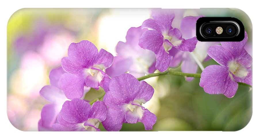 Orchid IPhone X Case featuring the photograph Every Gesture Of Tenderness by Jenny Rainbow