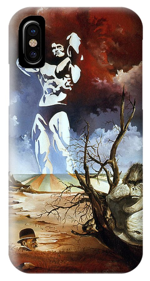 Surrealism IPhone X Case featuring the painting Evolution by Otto Rapp