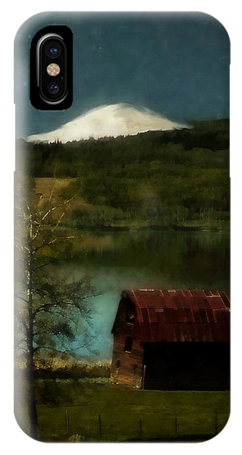 Landscape IPhone X Case featuring the painting Excellence And Peace by RC DeWinter