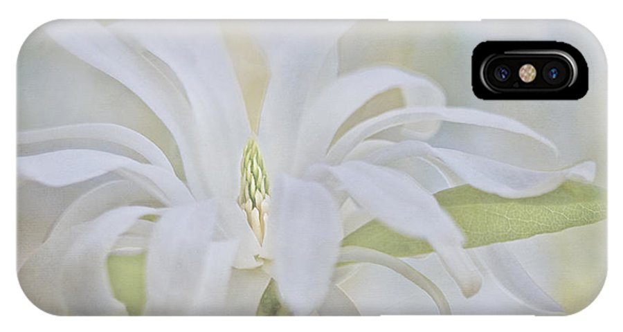 Magnolia IPhone X Case featuring the photograph Exhuberance by Maria Ismanah Schulze-Vorberg