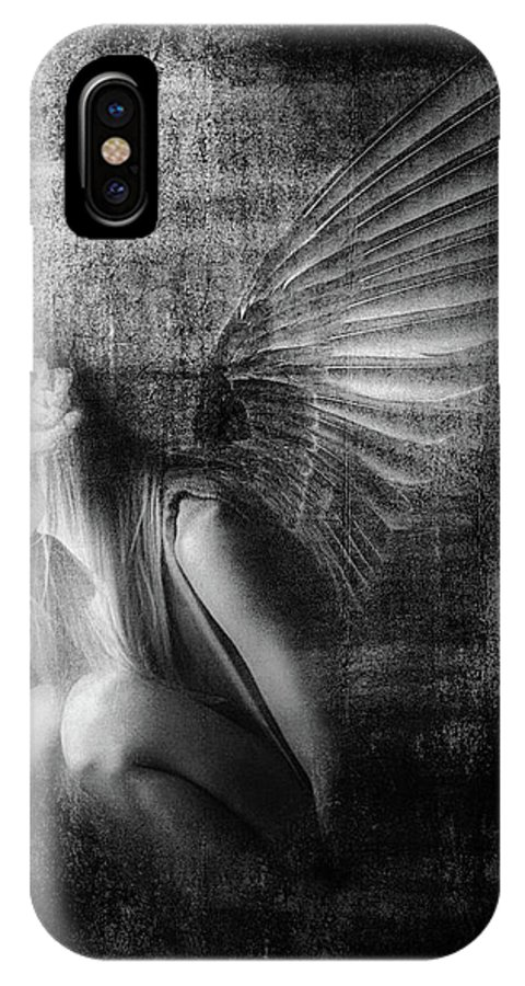 Angels IPhone X Case featuring the photograph Exile by Jeffrey Hummel