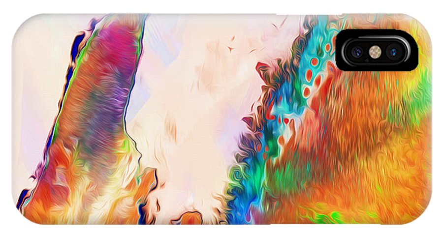 Australia IPhone X Case featuring the digital art Exmouth Gulf by Phill Petrovic