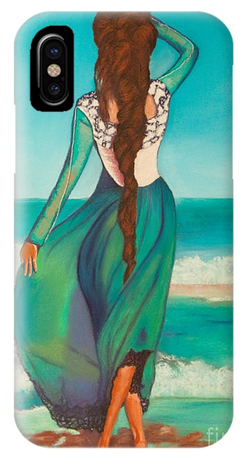 Original Art IPhone X Case featuring the painting Expectations by Dana Kern