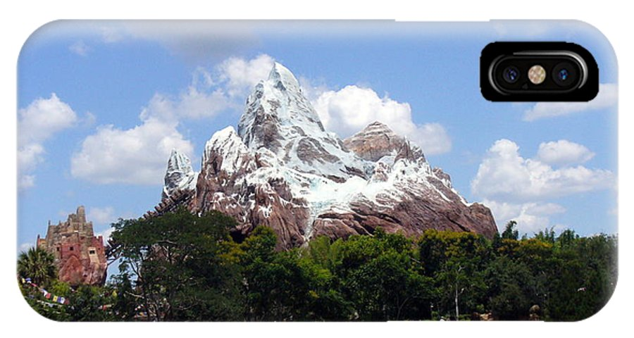 Animal Kingdom Adventure IPhone X Case featuring the photograph Expedition Everest by Lingfai Leung