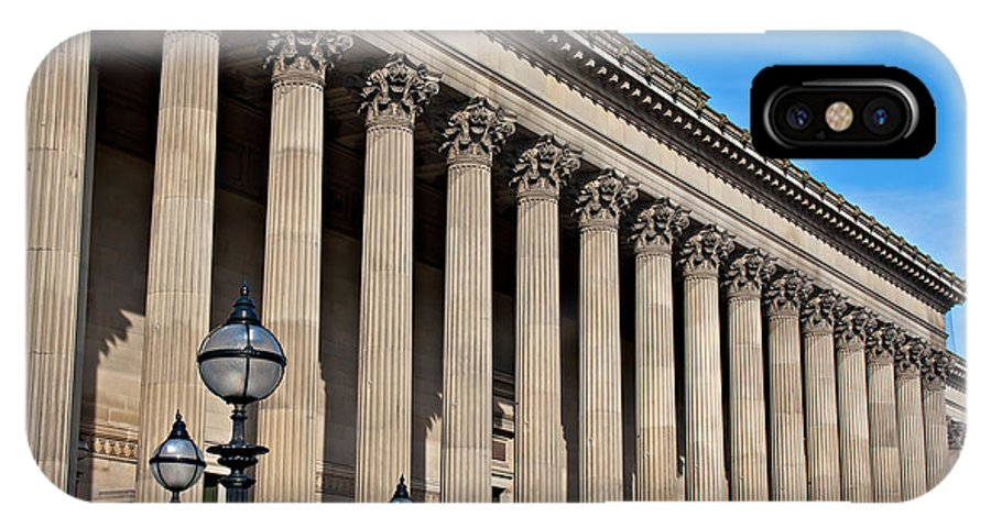 St Georges Hall IPhone X Case featuring the photograph Exterior Of St Georges Hall Liverpool Uk by Ken Biggs