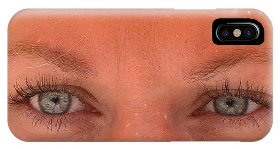 IPhone X Case featuring the photograph Eyes by April Helwig